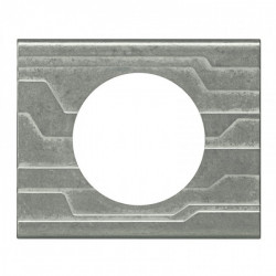 Plaque Céliane - Matières - 1 poste - Furtif (069041) - LEGRAND