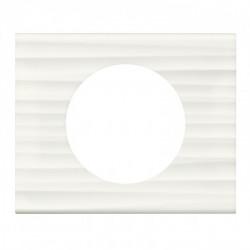 Plaque Céliane - Matières - 1 poste - Corian cannelé (069011) - LEGRAND