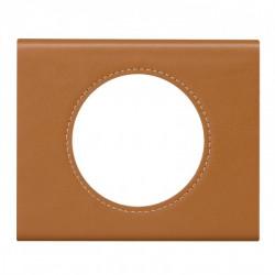 Plaque Céliane - Matières - 1 poste - Cuir caramel (069421) - LEGRAND