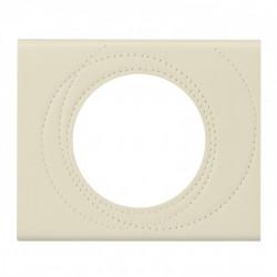 Plaque Céliane - Matières - 1 poste - cuir perle de couture (069431) - LEGRAND
