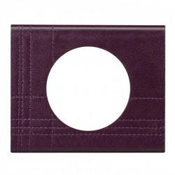 Plaque Céliane - Matières - 1 poste - Cuir pourpre couture (069441) - LEGRAND
