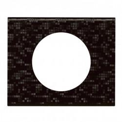 Plaque Céliane - Matières - 1 poste - Cuir Pixel (069451) - LEGRAND