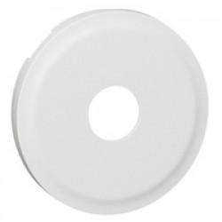 Enjoliveur Céliane - prise TV simple mâle / type ''F'' à visser - blanc (068282) - LEGRAND