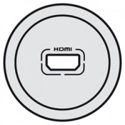 Enjoliveur Céliane - prise audio/video HDMI - titane (068516) - LEGRAND