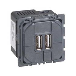 Prise double Céliane pour chargeur USB - 1500 mA (067462) - LEGRAND