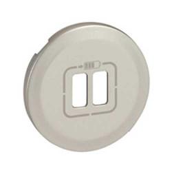 Enjoliveur Céliane - prise double pour chargeur USB - titane (068556) - LEGRAND