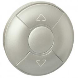 Enjoliveur Céliane - inter / poussoir / cde pour fenêtre de toit - titane (068451) - LEGRAND