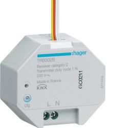 2 Entrées à encastrer 230V KNX radio QL (TRB302B) - HAGER