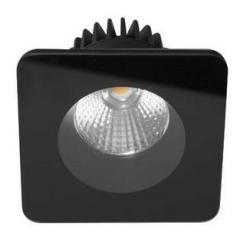 Spot encastré carré fixe 9W 3000K (Blanc ou Noir) - INDIGO