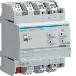 Module 4 sorties 16A/230V~ charge capa/NE (TXA604D) - HAGER