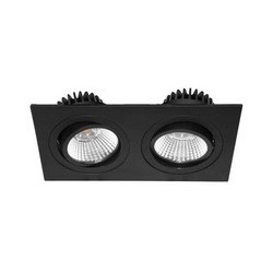 AL2014 SD LED NOIR MAT 230V 2x9W 3000K - INDIGO