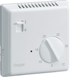 Thermostat électronique fil pilote (25513) - HAGER