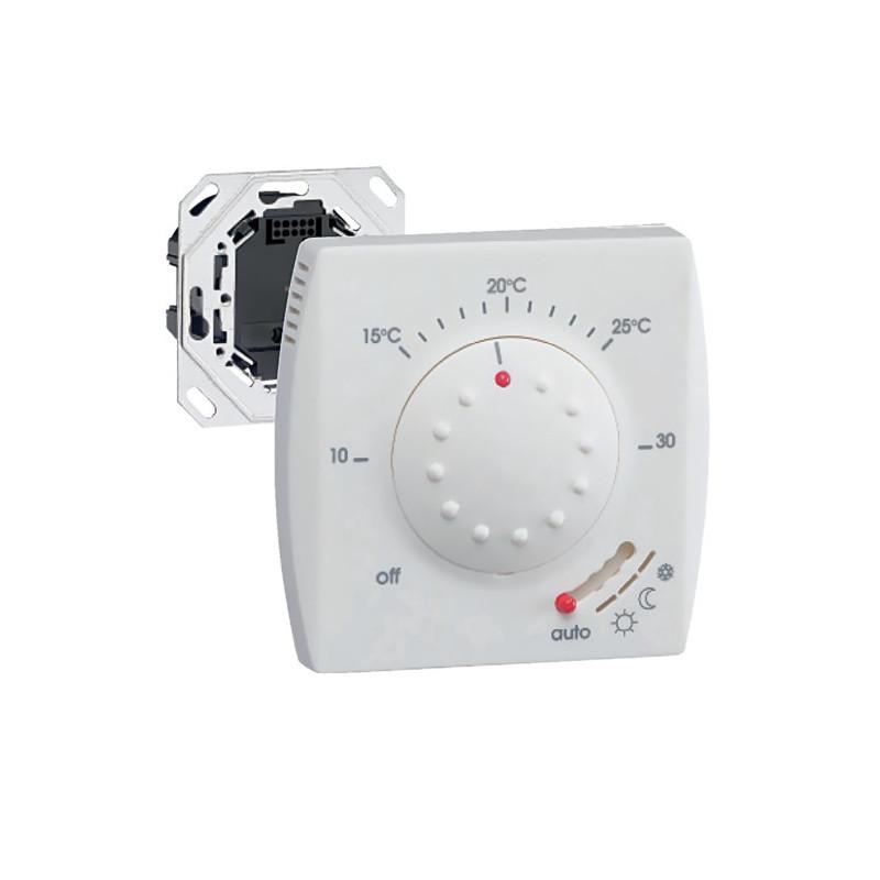 Thermostat semi encastr avec fp 25113 hager seulement 73 51 for Programmateur chauffage electrique fil pilote