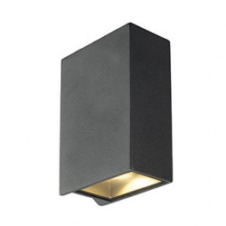 QUAD 2 XL applique carrée anthracite LED 2x3.2W 3000K up-down IP44 - SLV