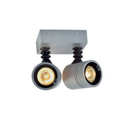 NEW MYRA WALL SPOT 2 applique gris argent 2xGU10 max 2x50W IP55 - SLV