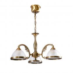 antique brass colour/brass glass 3*60W E27 - MW-HANDEL
