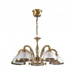 antique brass colour/brass glass 5*60W E27 - MW-HANDEL