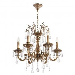 antique honey brass color/metal crystal 6*60W E14 - MW-HANDEL