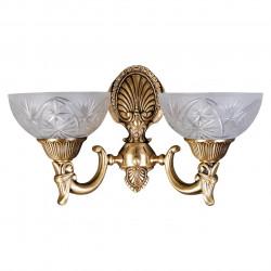 matt brass colour/metal glass 2*60W E27 - MW-HANDEL