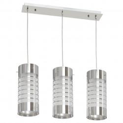 Suspension tubes de verre blanc striés 3x40W (MWH 354014103) - MW-HANDEL