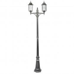 black+silver color/metal glass 2*95W E27  IP44 - MW-HANDEL