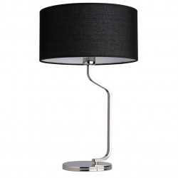 chrome color/stainless steel lampshade (linen) 1*60W E27 - MW-HANDEL
