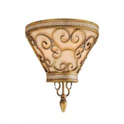 antique gold colour/metal cloth shade 2*60W E14 - MW-HANDEL