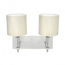 chrome color/metal                                 clear crystal    lampshade 2*40W E14 - MW-HANDEL