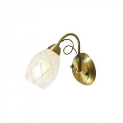 matt gold colour/metal glass 1*60W E14 - MW-HANDEL