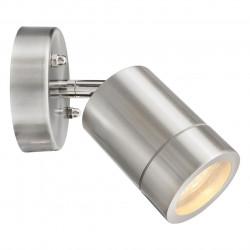 chrome colour/metal glass 1x21 LED GU10 IP65 - MW-HANDEL