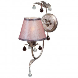 antique silver/metal glass/lampshade 1*40W E14 - MW-HANDEL
