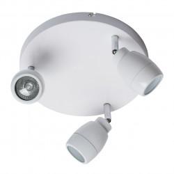 Plafonnier trois spots 28W orientables sur socle de métal blanc chromé (MWH 509023503) - MW-HANDEL