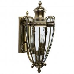 antique brass color/brass glass 3*60W E14 IP44 - MW-HANDEL