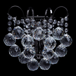 nickel color/metal clear crystal 1*60W E14 - MW-HANDEL