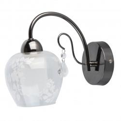 black chrome color/metal crystal/glass 1*60W E14 - MW-HANDEL