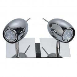 Plafonnier chromé LEDS 2x5W (MWH 506021202) - MW-HANDEL