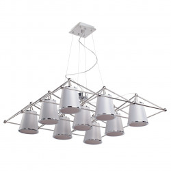 """chrome color/stainless steel lampshade 9*40W E14"""" """" - MW-HANDEL"""