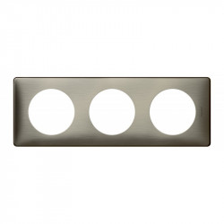 Plaque Céliane - Métal - 3 postes - Tungstène (068973) - LEGRAND