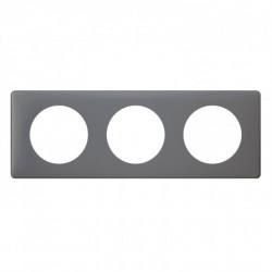 Plaque Céliane - Poudré - 3 postes - Schiste (066733) - LEGRAND