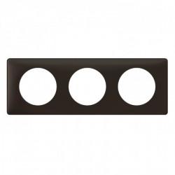 Plaque Céliane - Poudré - 3 postes - Basalte (066743) - LEGRAND