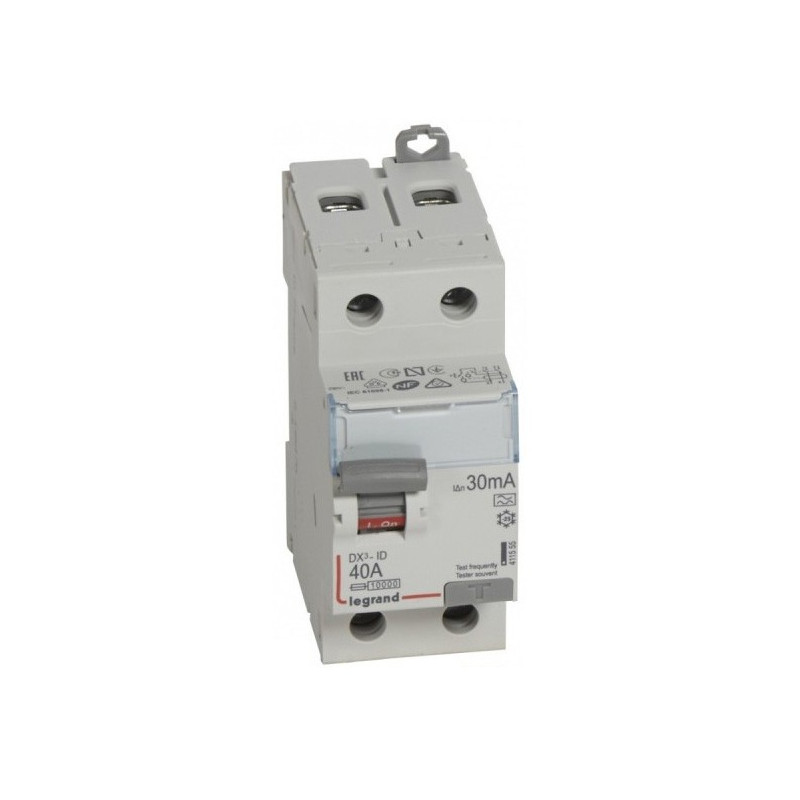 Inter Différentiel 63A Type Ac -2P- 300ma -230 V~-À Vis Départ Bas (411526) - LEGRAND