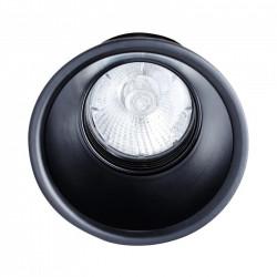 Spot encastrable rond fixe GU10 noir - INDIGO