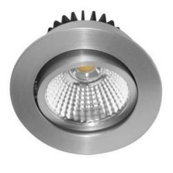 Spot LED Rond 6W 4000K Aluminium - INDIGO