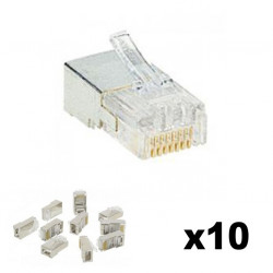 Lot de 10 fiches RJ45 Cat.5E 9 contacts 11,7mm - LEGRAND