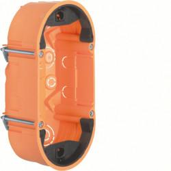 Boîte d'encastrement double, profondeur 47,5 mm, pour capteurs tactiles - HAGER