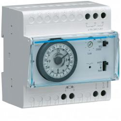 Interrupteur crépusculaire électromécanique 1 voie prog 24h avec cellule saillie - HAGER