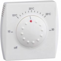 Thermostat ambiance électronique semi-encastré avec voyant 230V - HAGER