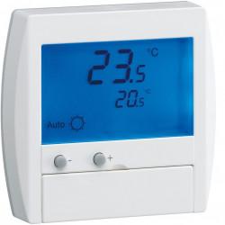 Thermostat ambiance digital semi-encastré chauf élec avec entrée fil pilote 230V (25120) - HAGER