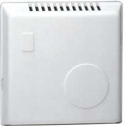 Thermostat ambiance bi-métal chauf eau ch avec contact inv réglage caché 230V (25805) - HAGER