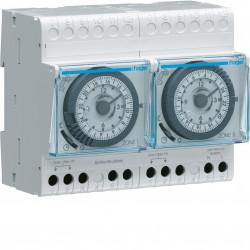 Programmateur modulaire analogique chauf élec avec fil pilote 2 zones 24h 230V (30010) - HAGER